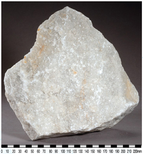 Marble Containing Crystalline Calcite Minerals