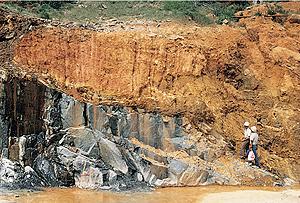 Attrition coastal erosion